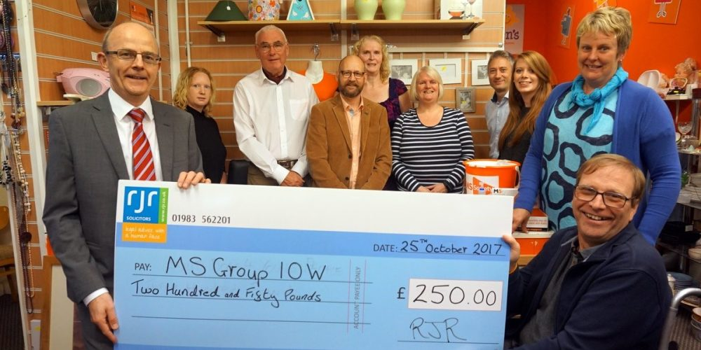 Donation to MS Society IOW Group